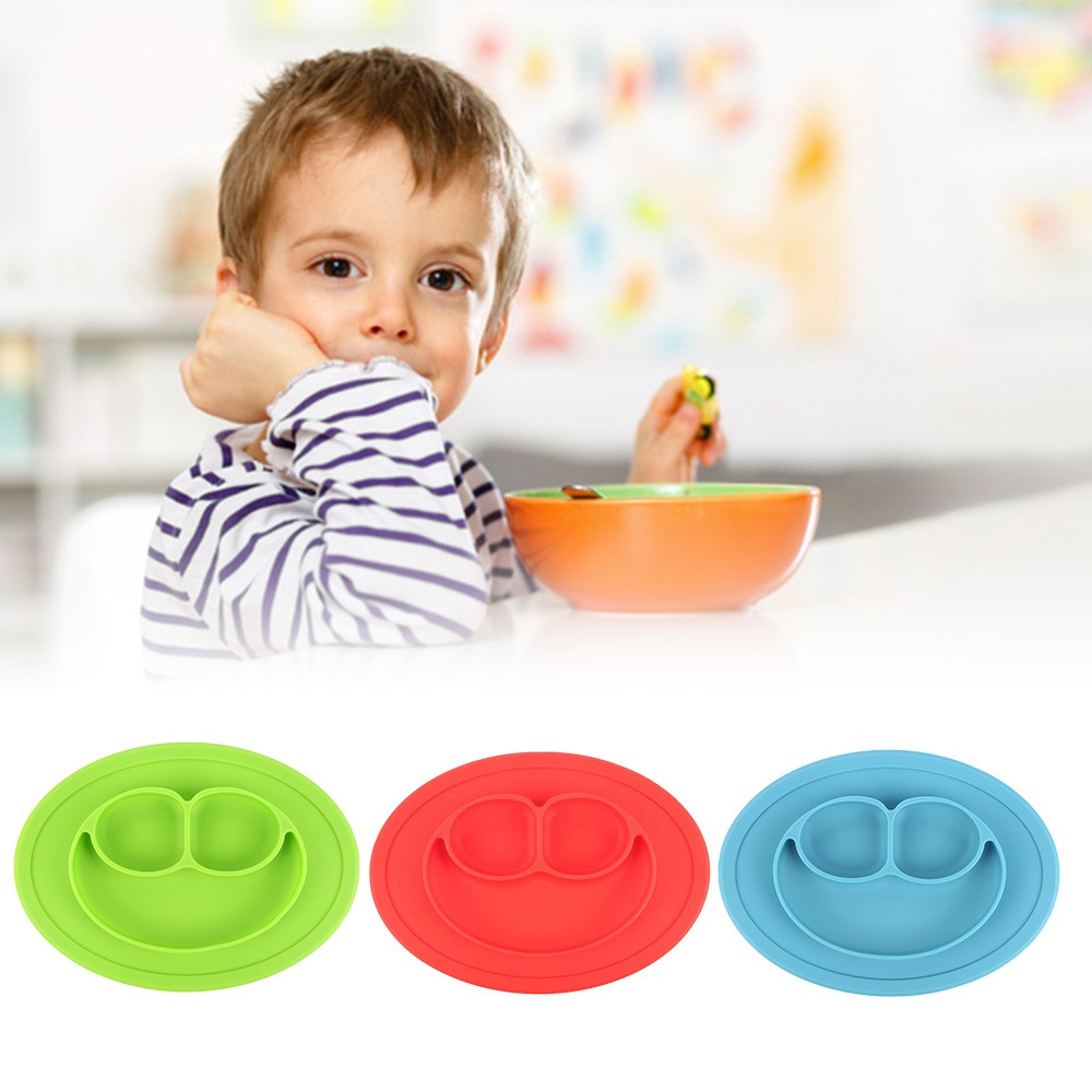 No Slip Silicone Mat Baby Kid Table Food Dish Suction Tray Placemat Plate Bowl