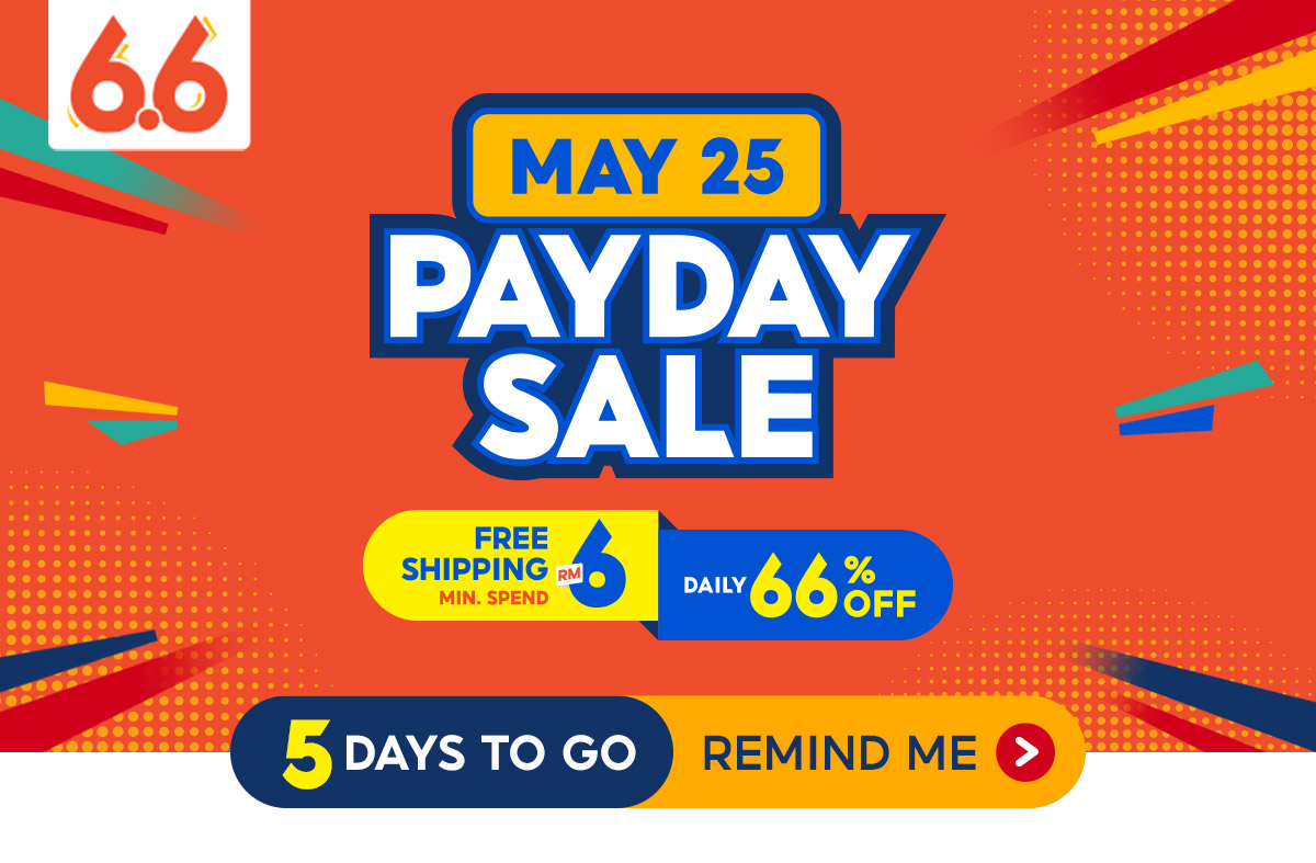 Amazing deals and discounts await you during Shopee Malaysia's 6.6 Awesome Sale!