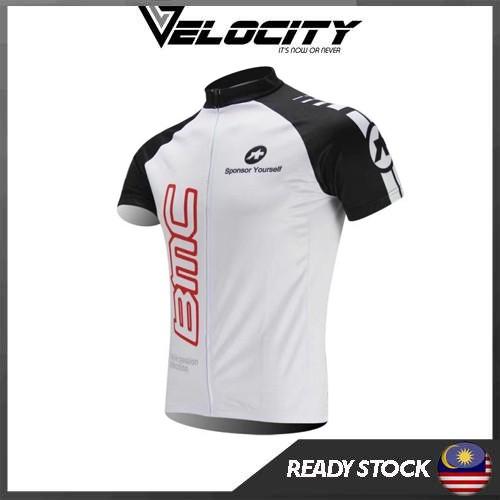BMC Pro Team Cycling Jersey Top Short Sleeve BMC Red BMC White