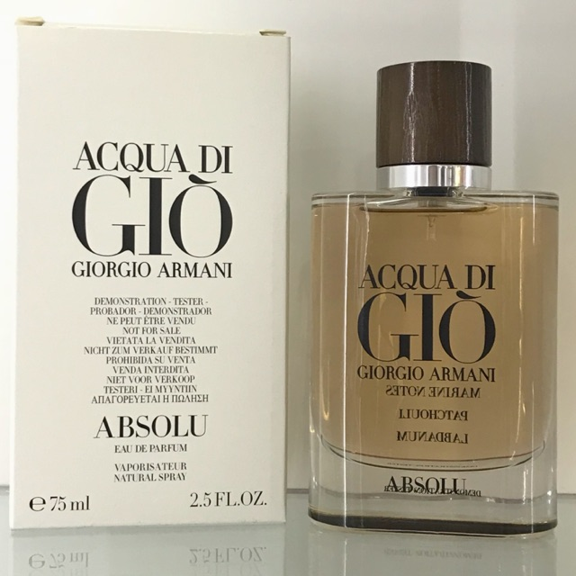 ORIGINAL PERFUME TESTER GIORGIO ARMANI ACQUA DI GIO ABSOLU EDP 75ml ... a88440b55dbd5