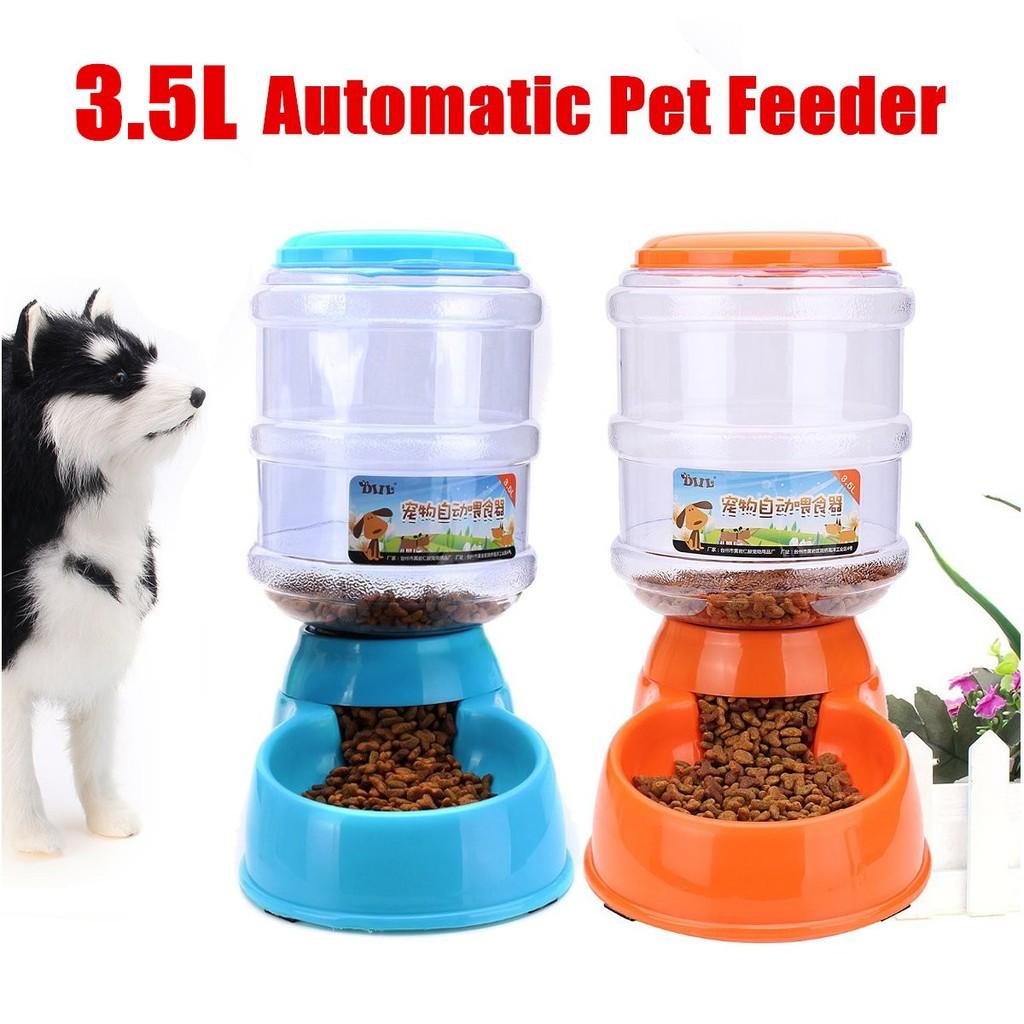 3 5l Large Automatic Pet Dog Cat Food Drink Dispenser Shopee Malaysia