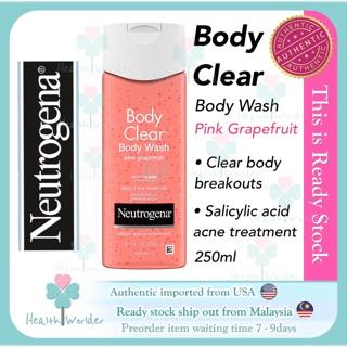 Neutrogena Body Clear Acne Treatment Body Wash 8 5oz Shopee Malaysia