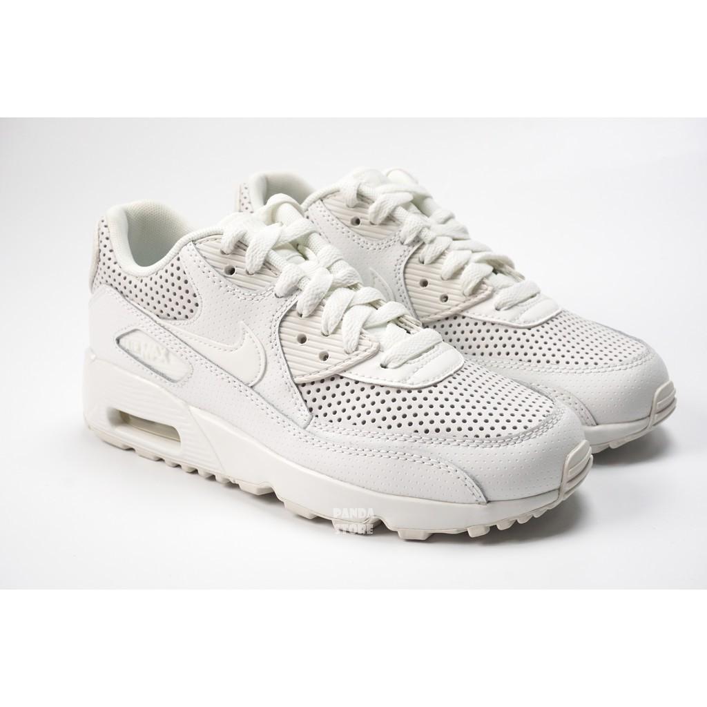 camioneta Derechos de autor Instrumento  Nike Air Max 90 Se Ltr Gs Leather Air Cushion Boy 859560 - 100 White Shoes    Shopee Malaysia
