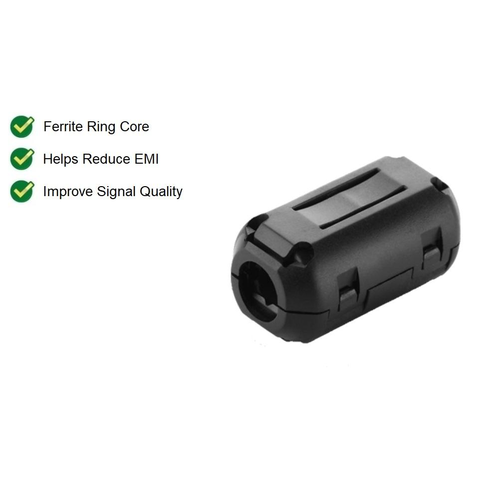 UGREEN Clip on Ferrite Ring Core Diameter 5.5mm / 7.3mm Earphone Cable RFI EMI Noise Suppressor Active Components