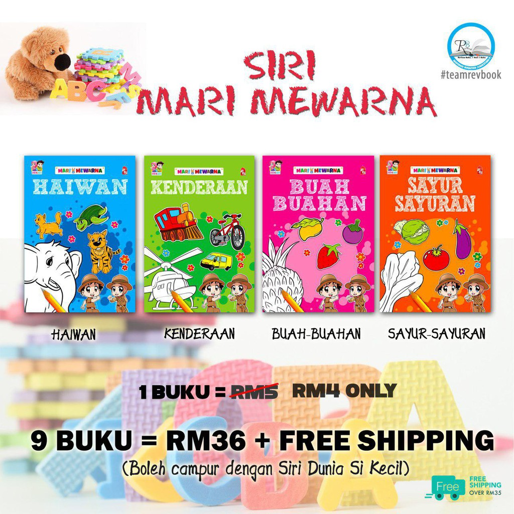 Buku Mewarna Doodle Express I Shopee Malaysia