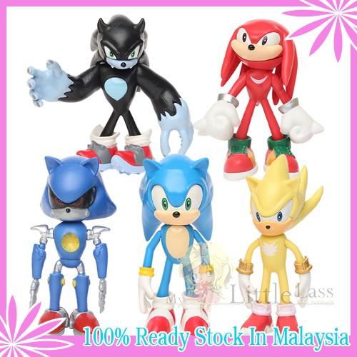 5Pcs Big Sonic Figure Cartoon Classic Sonic Super Sonic Knuckles sonic Metal Sonic PVC Figure Toy Collection