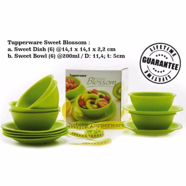 Tupperware Gift Box Full Set Blossom Serveware Green