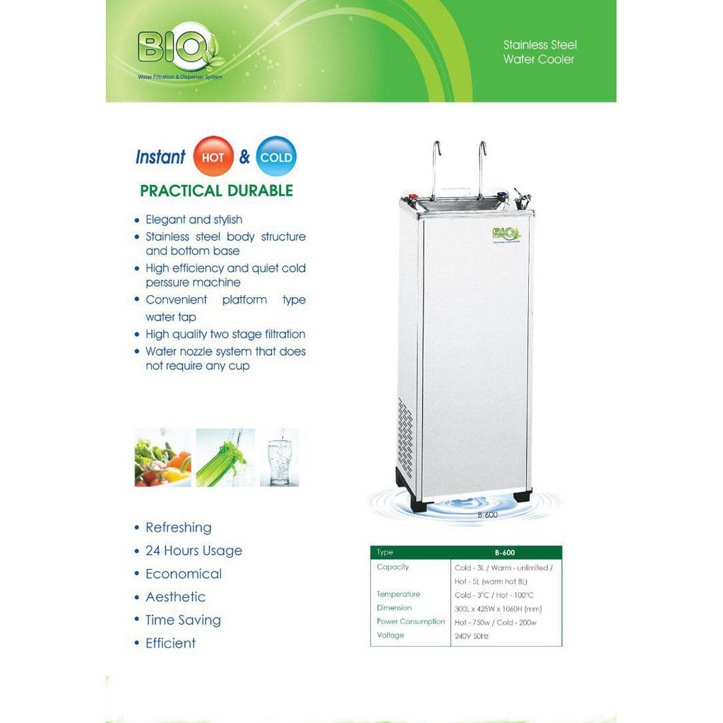 BK -600S HOT & COLD WATER COOLER