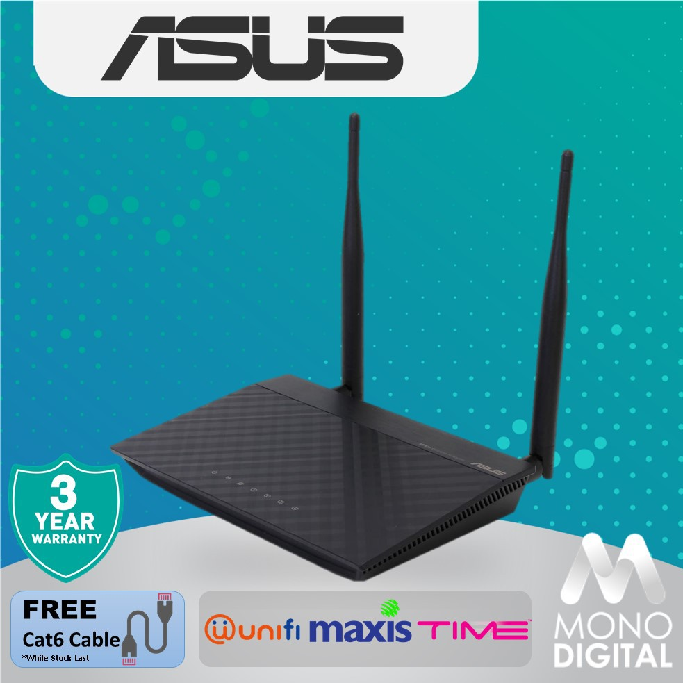 ASUS Wireless Wifi Up to 300Mbps Router 4K HD Video VoIP calls Range Extender