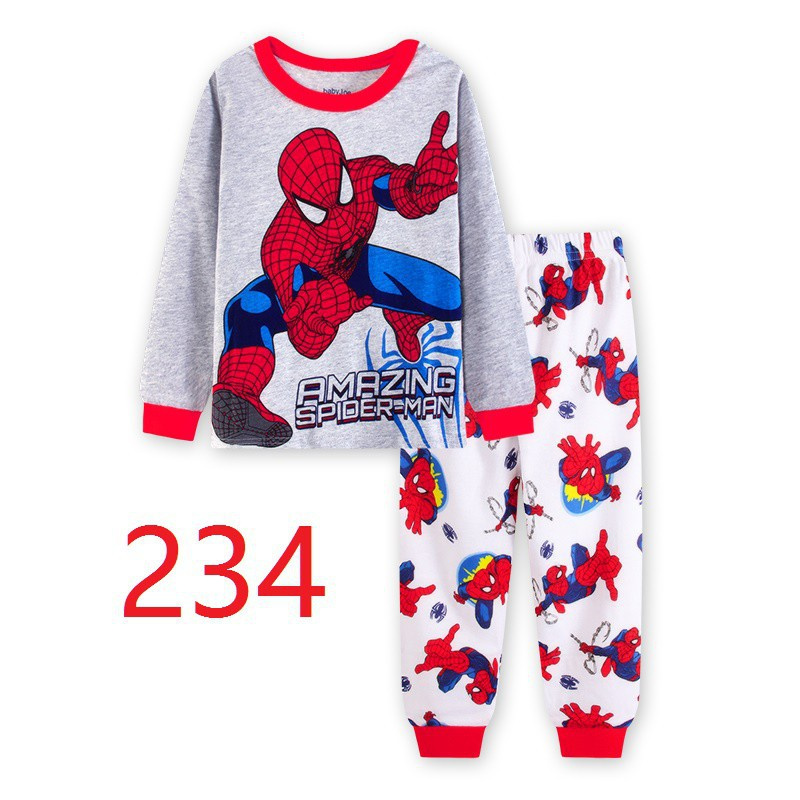 a63b7f34d33d3 Spiderman Kids Boys 2Pcs Pajamas Sleepwear Suit Leisure Long Sleeve  Top+Pants