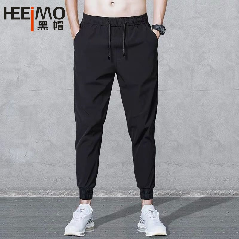 Womens Cotton Linen Wide Leg Pants Elastic Waist Pants Casual Trousers Lounge Pants Plus Size Capris with Pockets SIN+MON