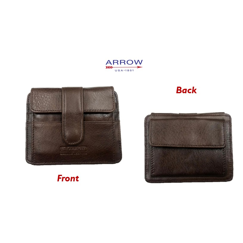 Arrow Genuine Leather Casual Card Holder wallet with Coin Pouch Wallet  💼