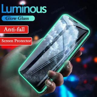 Luminous Glow Protective Tempered Glass For Iphone 11 Pro Max Se 2020 7 8 Plus 11pro X Xr Xs Max Xr Screen Protector Film Shopee Malaysia