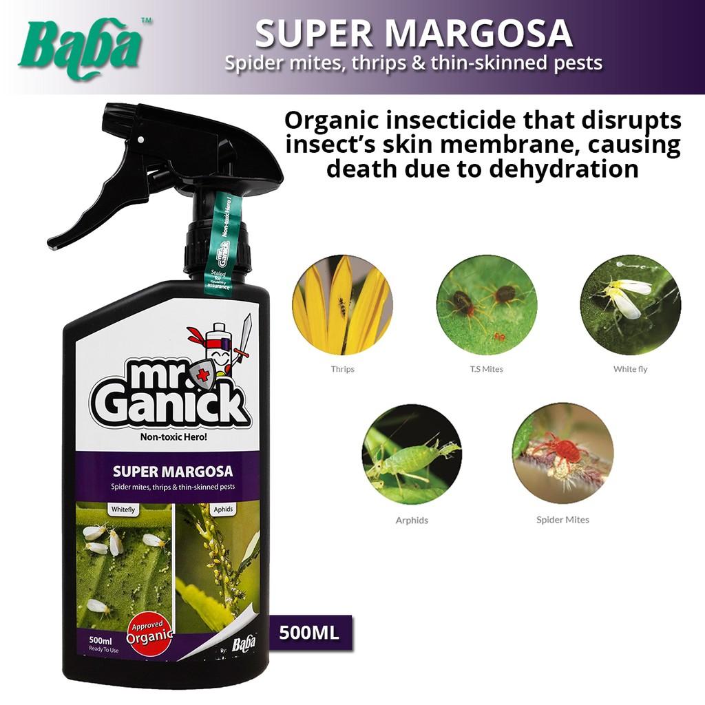 Baba Mr Ganick Super Margosa Spider Mites, Thrips & Thin-Skinned Pests 500ML
