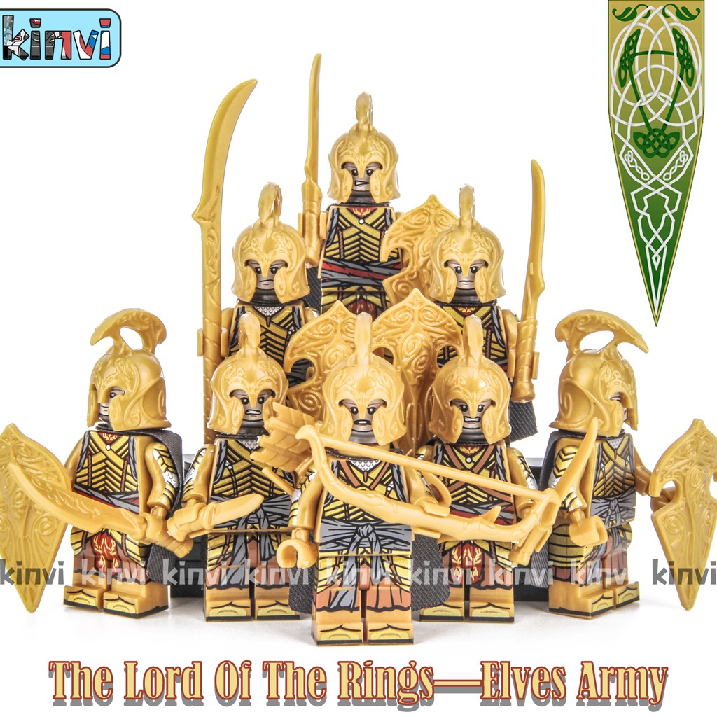 single sale Lord Rings Gondor Soldiers Lancer Archer Medieval Knight Action  Figures Building Blocks Toys for child KT1014 Kt1015|Blocks| - AliExpress