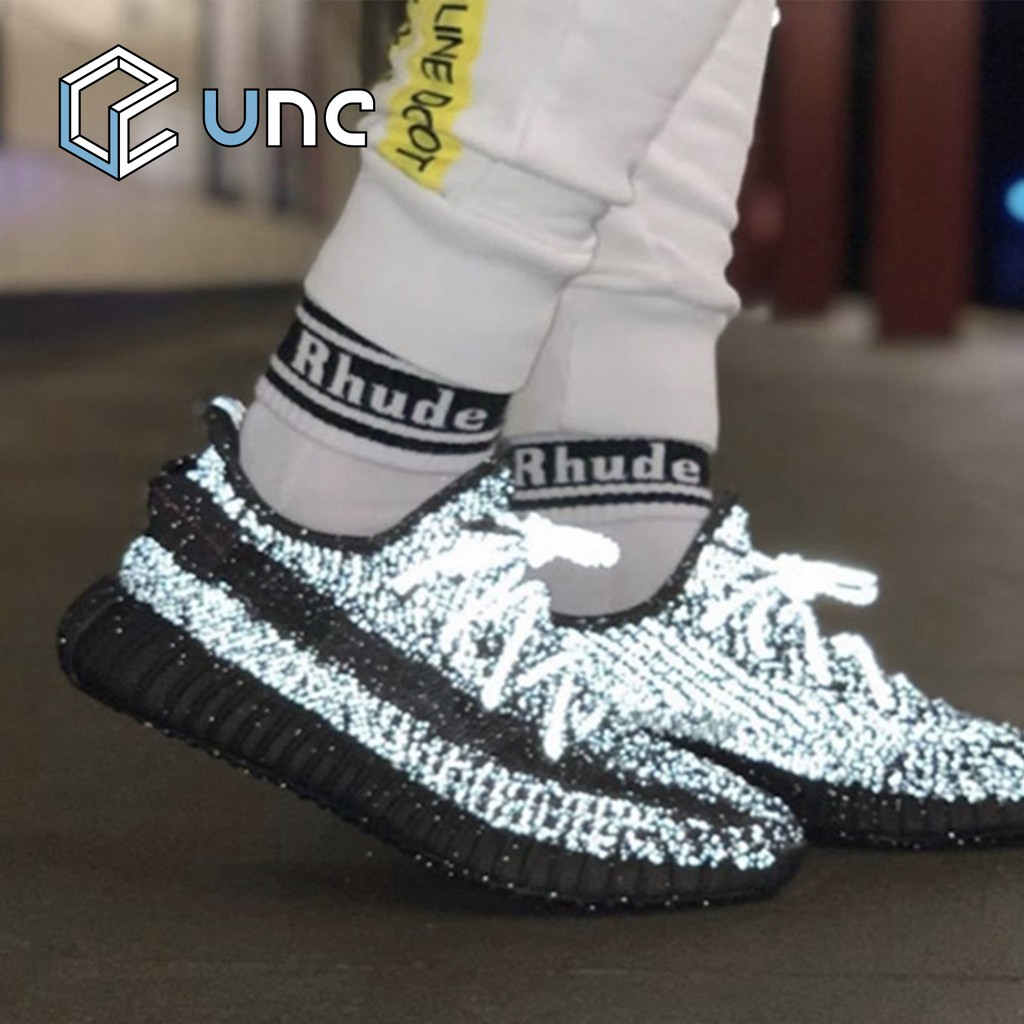 Adidas Yeezy 350 V2 Static 3M refective lightweight breathable running shoes illuminated sneakers black EU36 45 EF2367