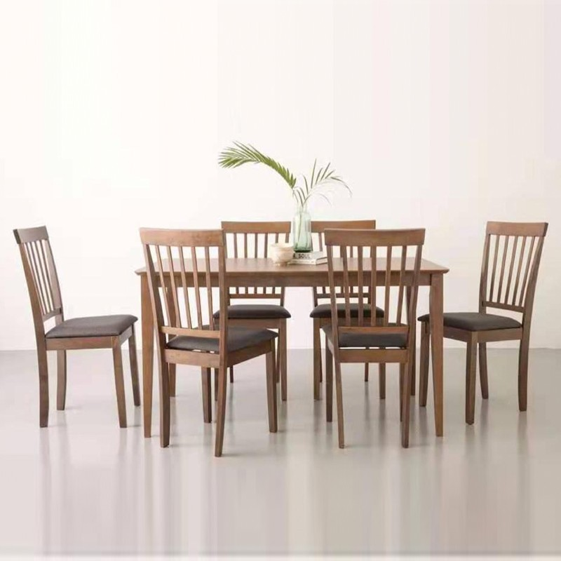 Furniture Direct MYLA solid wooden 4 and 6 seater dining set/ set meja makan
