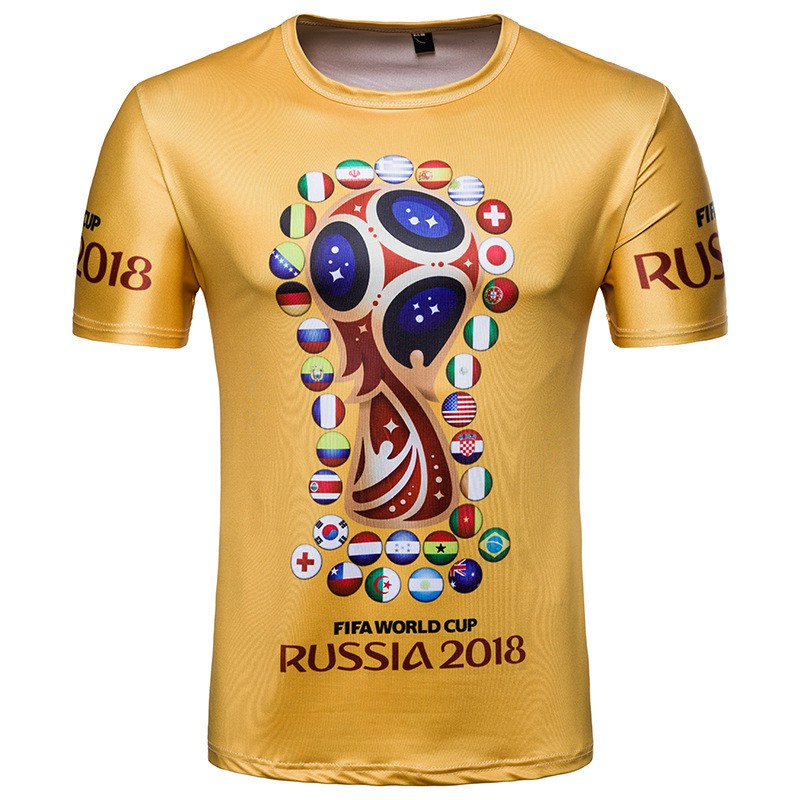 51131b1df 18 Year Russian World Cup Commemorative Short Sleeved T-shirts | Shopee  Malaysia