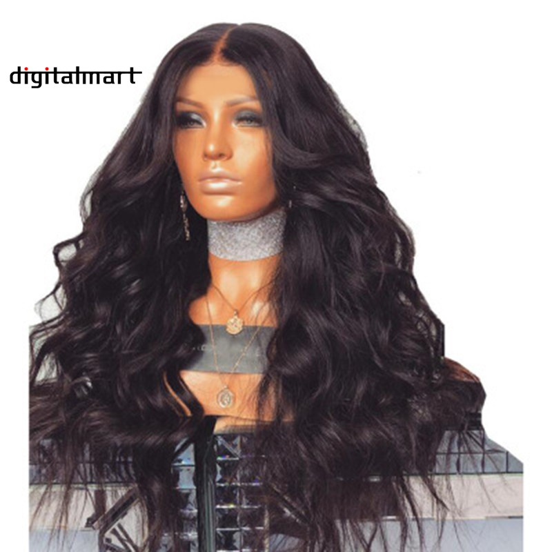 1a4187111f7 Brazilian Remy Human Hair Body Wave Lace Front Human Hair Wigs With Baby  Hair Ha