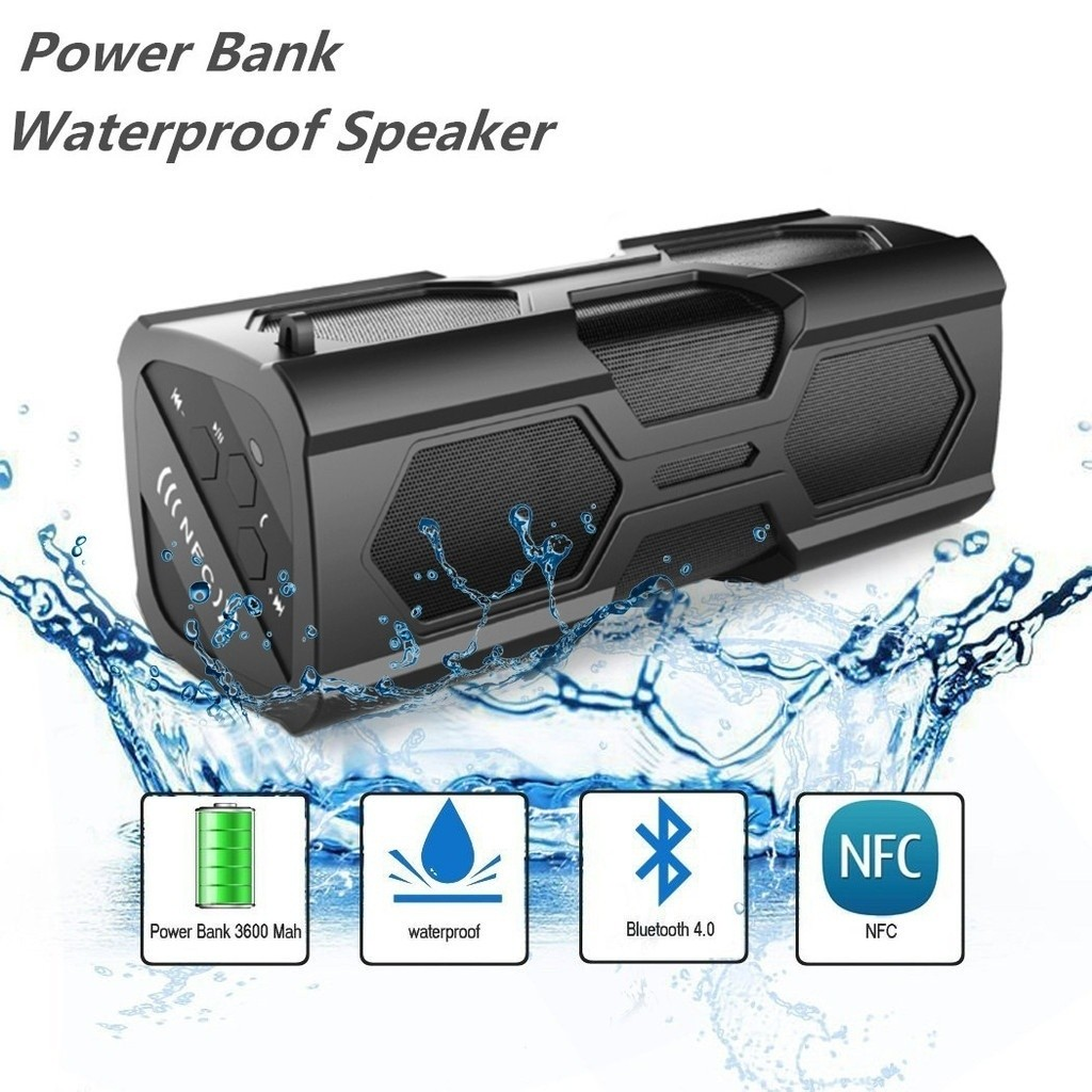 Portable Bluetooth 4.0 Wireless Boombox Speaker(waterproof and Shockproof) with