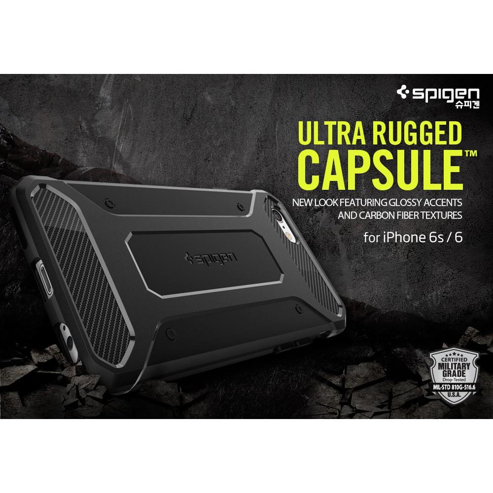 finest selection 6e738 edd4f Original Spigen SGP Rugged Armor Capsule Case for Apple iPhone 6S/6 (4.7