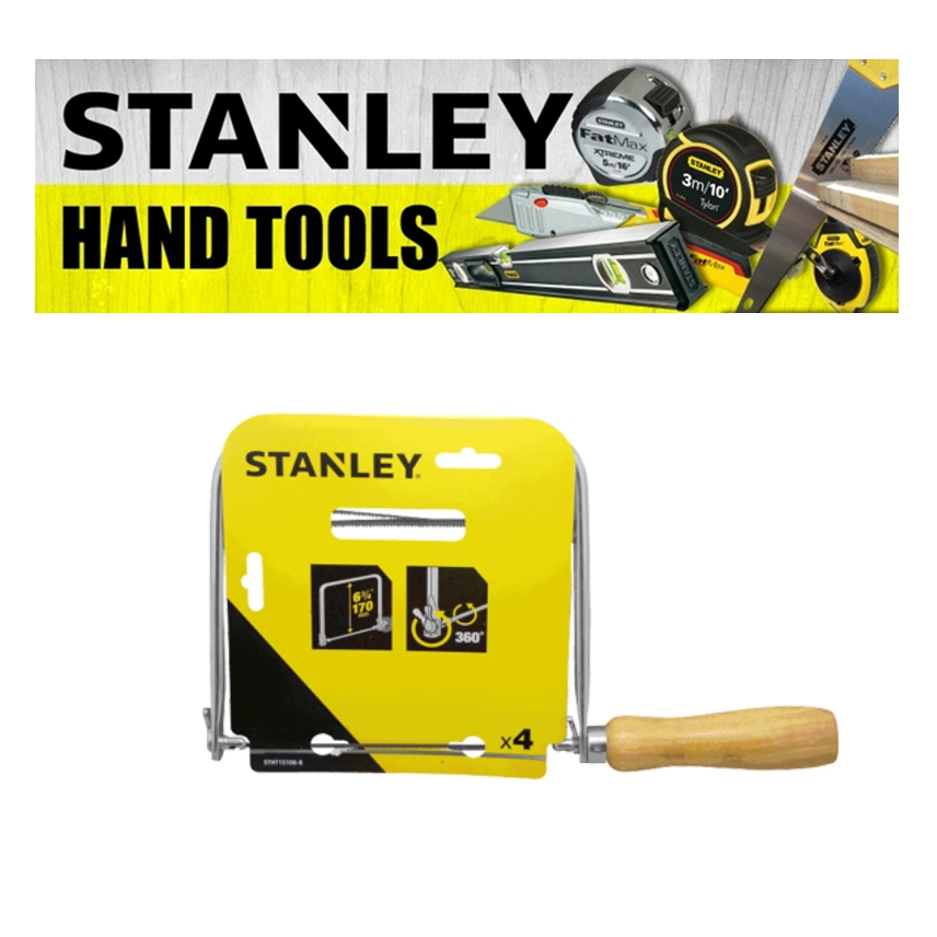 STANLEY FATMAX COPING SAW 15-104A / 15-106A BLADE LENGTH 6-3-8 FRAME DEPTH 4-3-4  CUTTING TOOLS