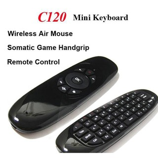 Wireless Game Keyboard Fly Air Mouse C120 Android Remote Controller Rechargeable