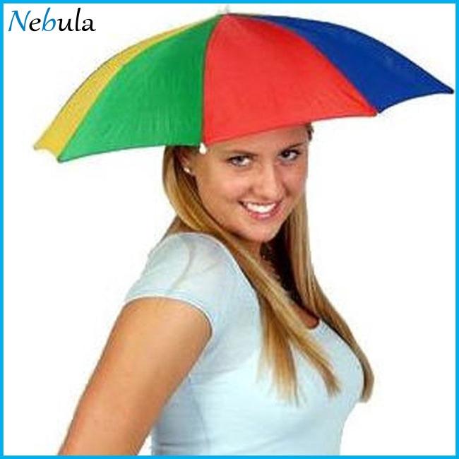 HOT Foldable Sun  Umbrella Hat Outdoor Headwear Cap Brolly Novelty  Hat