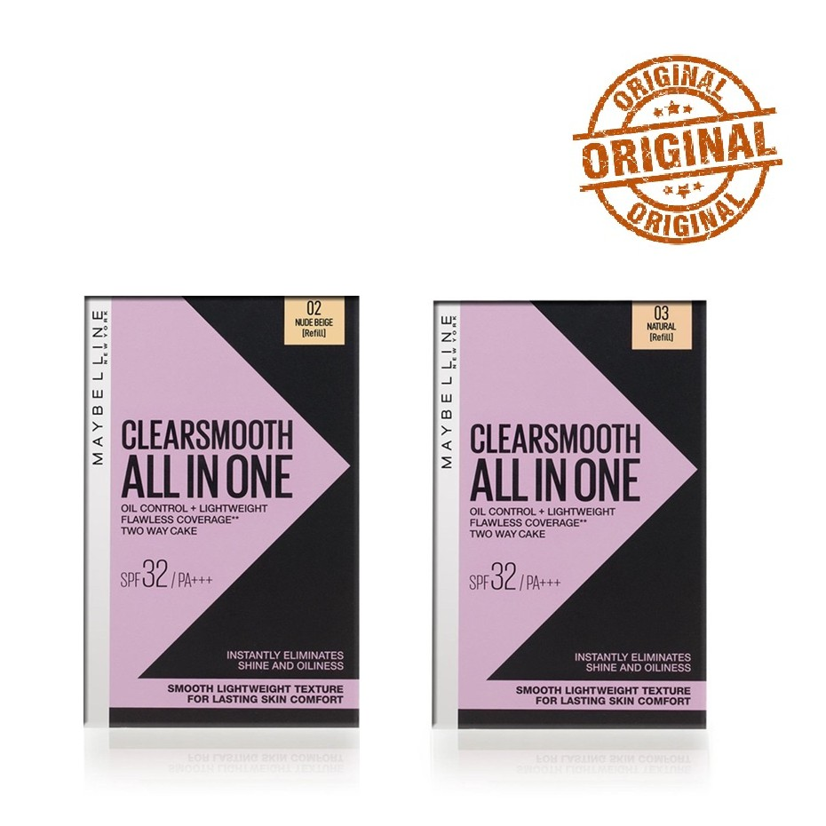 Maybelline Clear Smooth All-In-One Two-Way Cake Refill in
