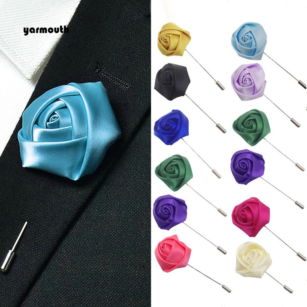 9d8f0a68af2 YAR_Men's Suit Tuxedo Flower Lapel Stick Pin Brooch Wedding Party Prom  Accessory | Shopee Malaysia