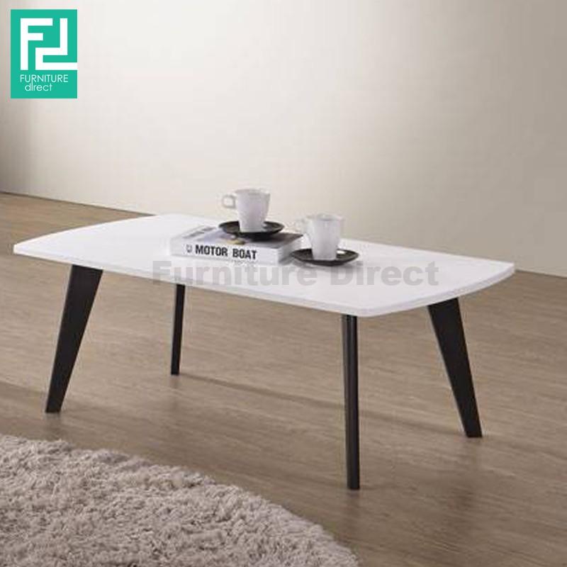 Furniture Direct SOMERSET RECTANGULAR COFFEE TABLE- BLACK LEGS