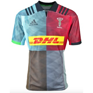 top fashion 7c9d5 448d3 (S,M,L) 💯100% Authentic ADIDAS Harlequins Replica Home Rugby Shirt 2018/19