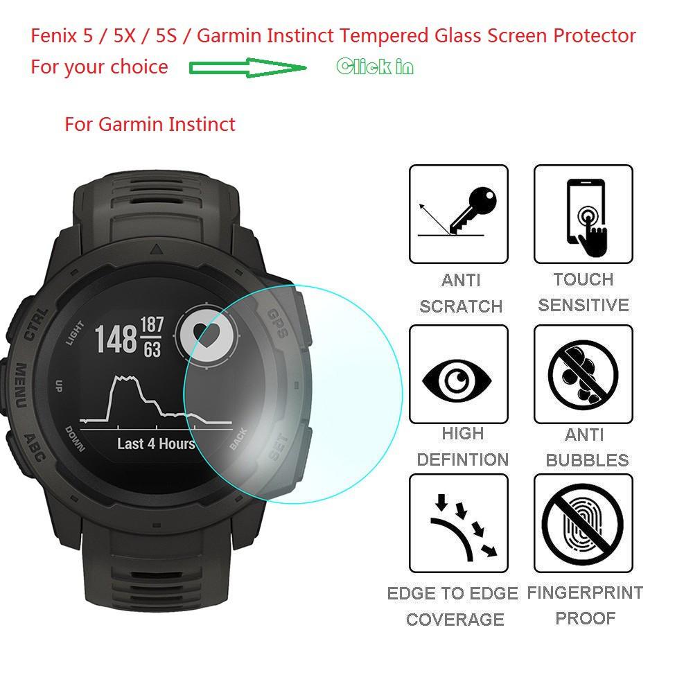 Garmin Instinct / Fenix 5S / 5 / 5x Tempered Glass Screen Protector Watch  Films