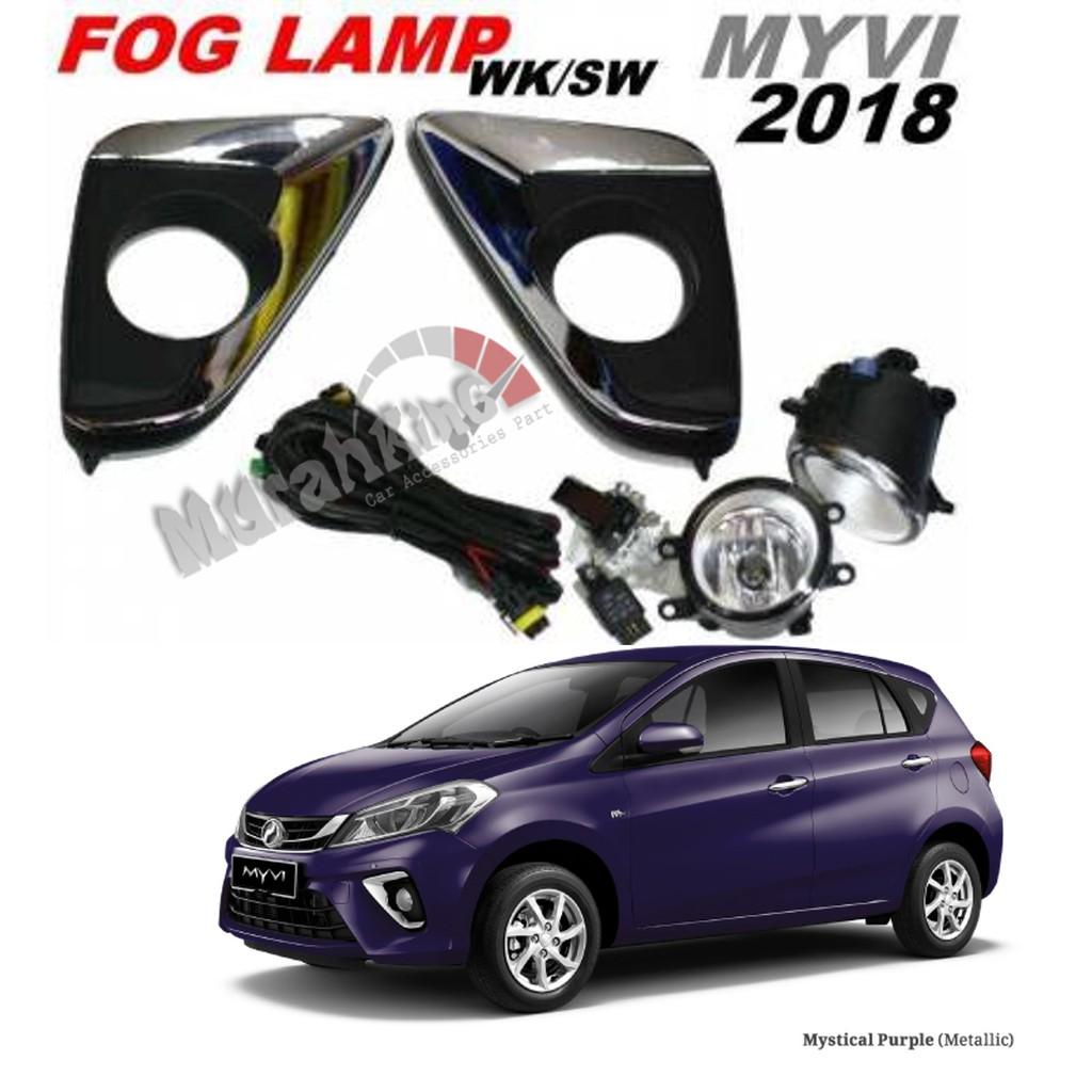 Waterproof Fog Lamp Sport Light For Perodua Myvi 2018 W Wiring Kit Exora Shopee Malaysia