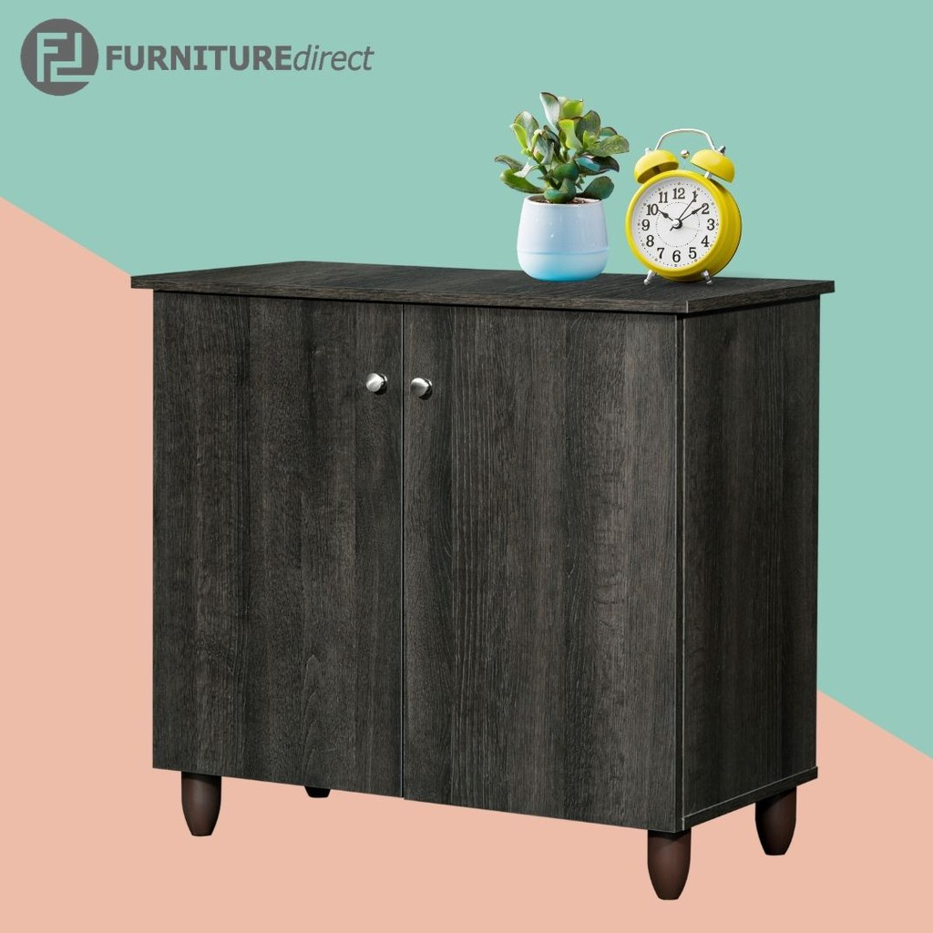 HEXA 2 door shoe cabinet/ rak kasut/ rak kasut kayu/ rak kasut berpintu