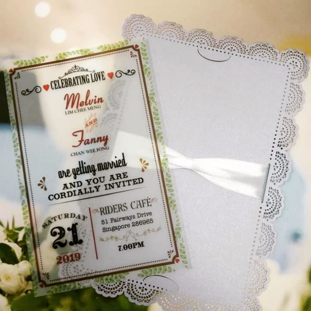 Translucent Vellum Kad Kahwin Shopee Malaysia
