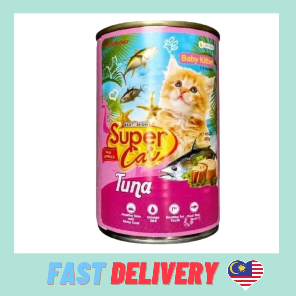 Supercat Canned Food Wet Food Makanan Kucing Premium Quality 400g/can