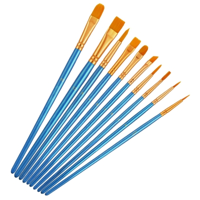 COOKJOY 50PCS Artist Brushes Paint Tools for Kids / Adults (SKY BLUE)