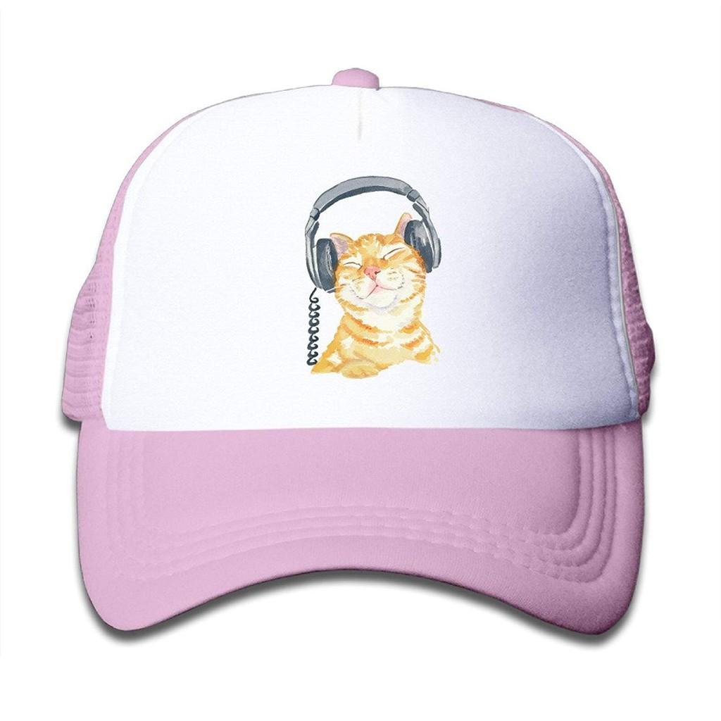 b3658d27 Kids Orange Tabby Cat Trucker Mesh Baseball Cap Hat Trucker Hats Pink