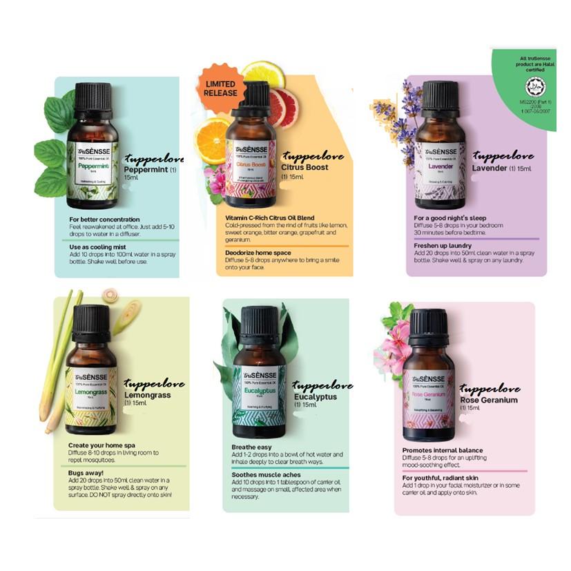 ❤BEST PRICE❤ Tupperware Trusensse Florea PURE Essential Oils (1)