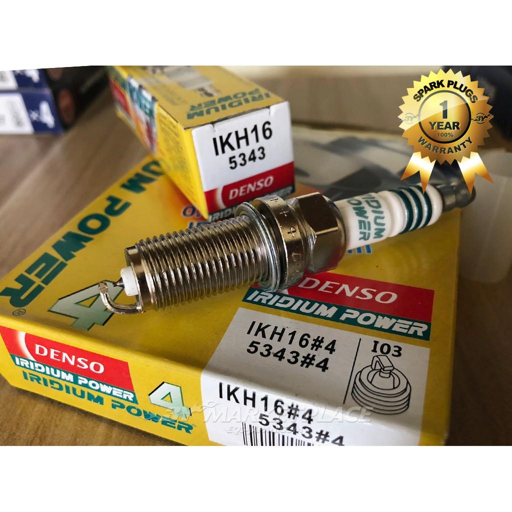Set 4 Spark Plugs Iridium Power DENSO 5343 IKH16 High Performance /& Response