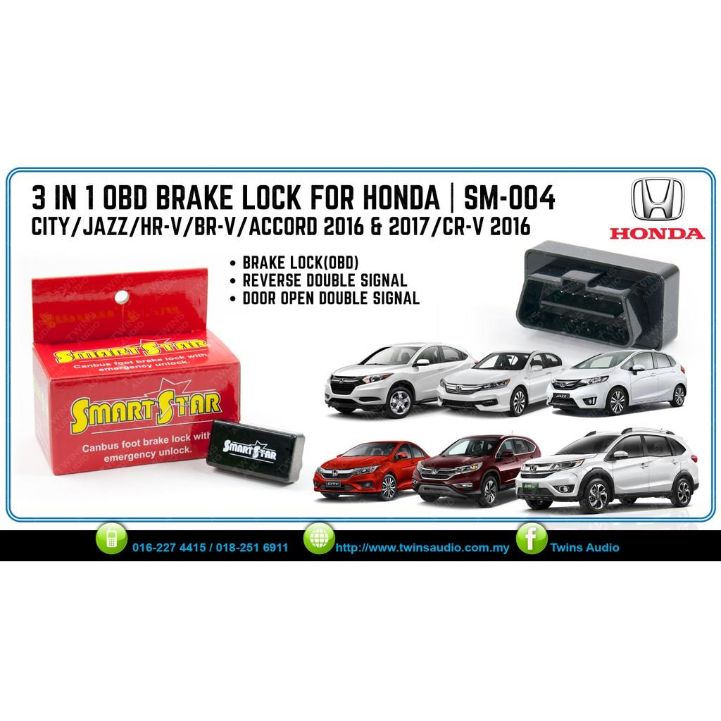 SM-004 3 IN 1 OBD BRAKE LOCK - HONDA CITY/JAZZ/HRV/BRV/ACCORD16-17Y/CRV16Y