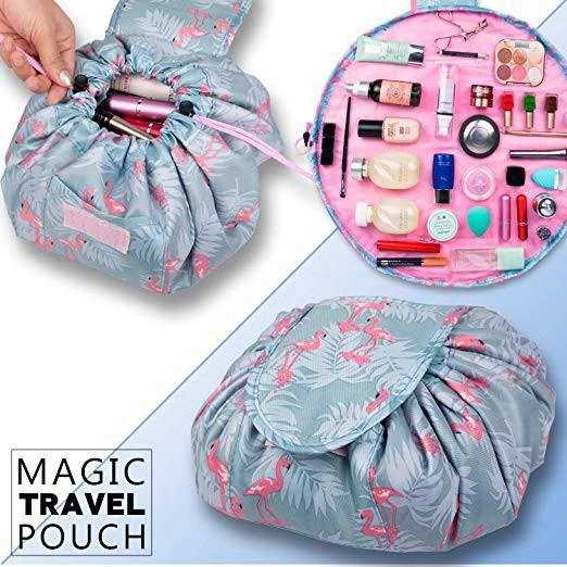 b96d45f75cd8 Drawstring Makeup Bag Quick Travel Cosmetics Bags for Women