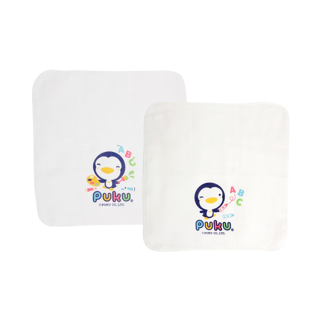 Ready Stock PUKU Gauze Handkerchief 30*30cm (2pcs) P26605