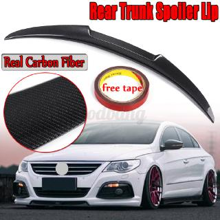 Real Carbon Fiber Rear Trunk Lip Spoiler OEM TYPE For VOLKSWAGEN 2008-2017 CC