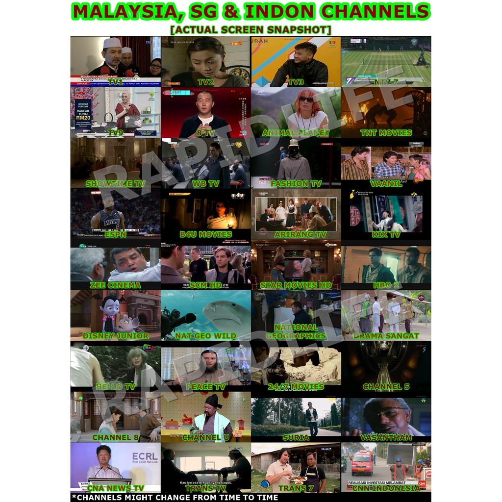 H96 MAX LED 4GB 64GB RK3328 Over 3000 Free Live Channels Latest App TV BOX  ANDROID KODI IPTV Malaysia International