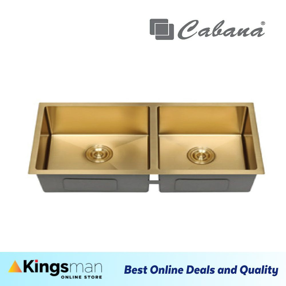 [Kingsman] Cabana Undermount Stainless Steel Home Living Kitchen Sink Double Bowl Ready Stock - CKS7607