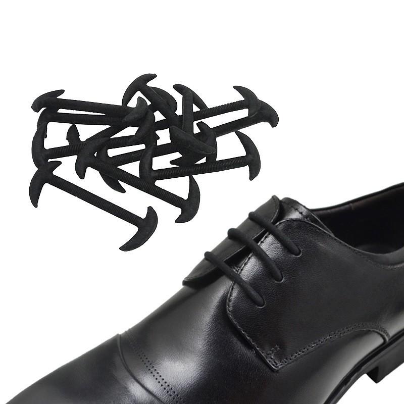 เชือกรองเท้าซิลิโคนยืดหยุ่น แบบไม่ต้องผูก 12 ชิ้น สำหรับรองเท้า