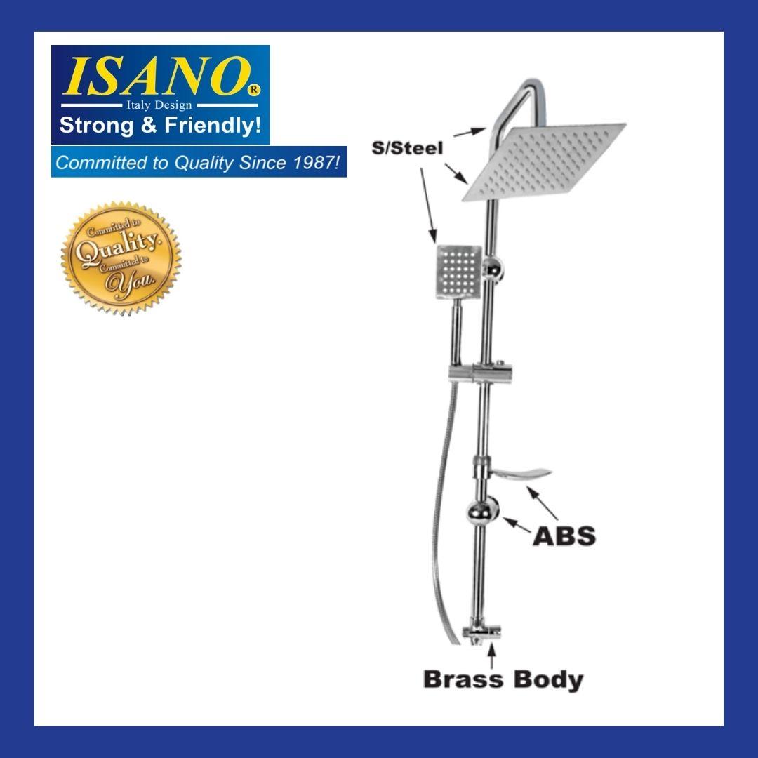 ISANO Bathroom shower Set Rain Shower & Hand Shower  - 1900ES-Square