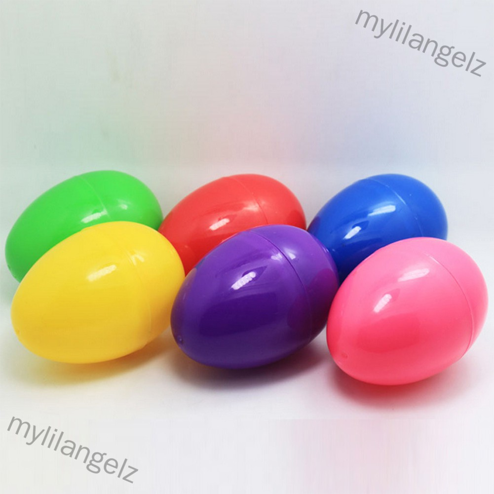 Mylilangelz 12Pcs Durable Plastic Bright Colorful Open Easter Eggs Assorted Colors Holiday Decorations 6CM